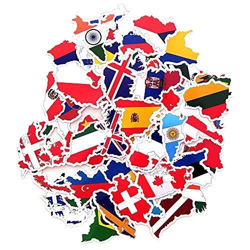 Pegatinas banderas nacionales paises mapa pegatina viajes vinilos portatil equipaje maletas botella...
