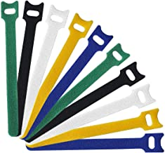 Reusable Cable Ties - Microfiber Cloth Cable Straps Hook and Loop Reusable Fastening Cable Ties, Multicolor, 50 Piece