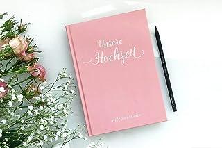 """""""Unsere Hochzeit  – Hochzeitsplaner mit 168 Seiten und Lesezeichen in Rosa B07FS461FY  Neues Produkt"""