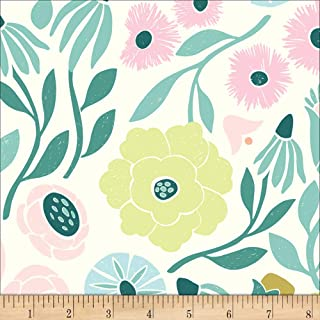 Cloud 9 Cloud9 Organic Ethereal Jungle Ethereal Vines Green/Pink Multi, Fabric by the Yard