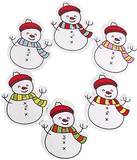 Toyvian 100pcs Snowman Christmas Wooden Button Christmas Buttons 2 Holes Decorative Christmas Ornaments Wooden Buttons