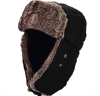 ParZ Sombrero de Invierno con Orejeras V/álvula de respiraci/ón Sombrero de Soldado Trooper Mascarilla Desmontable a Prueba de Viento Impermeable y Transpirable Piel sint/ética Sombrero de Caza Ushanka