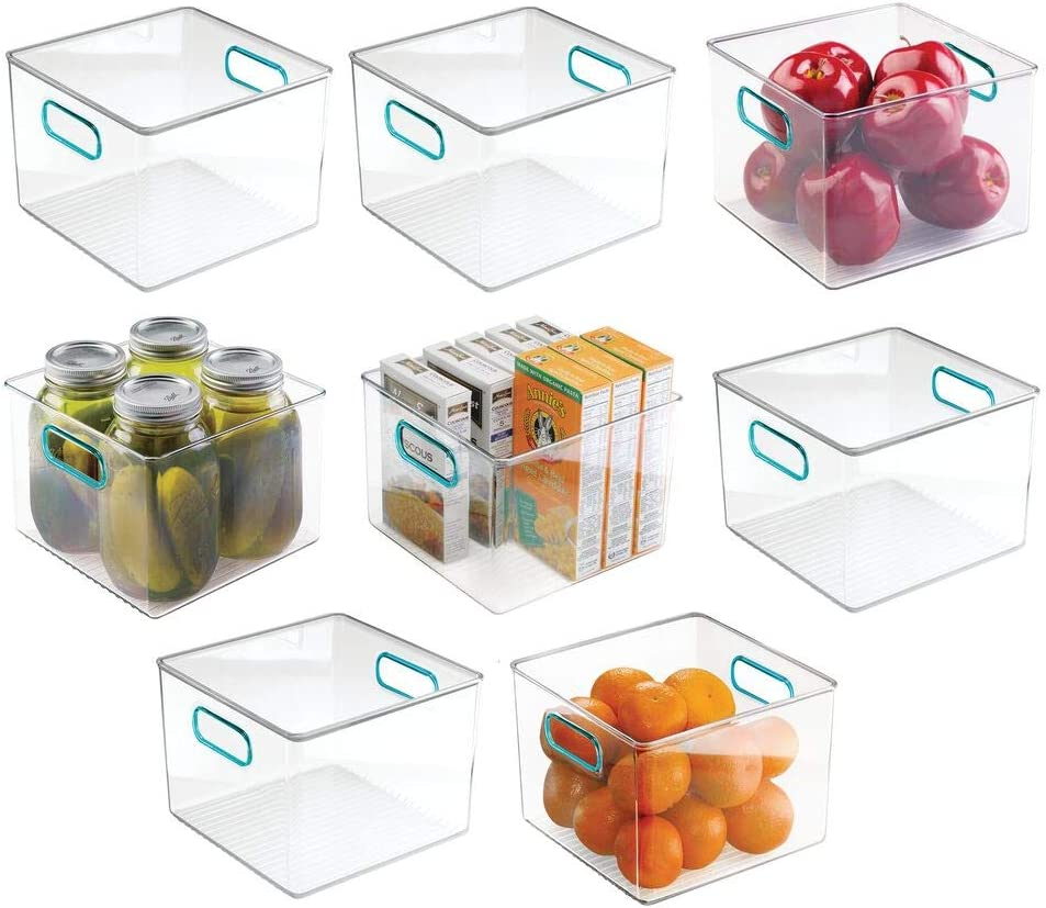 mDesign Plastic Food Storage 70% OFF Outlet Container Bin for Handles 25% OFF with Kitc