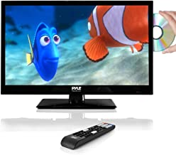 """Pyle 21.5"""" 1080p LED TV, Multimedia Disc Player, Ultra HD TV, LED Hi Res Widescreen Monitor w/ HDMI Cable RCA Input, LED TV Monitor, Audio Streaming, Mac PC, Stereo Speakers, Wall Mount (PTVDLED22)"""