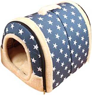 Dogs Tent Bed, Inkach Pet House for Small Cats Soft Cushion Comfy Nest Kennel, Puppy Kitten Sleeping Mat Pad Warm Cave