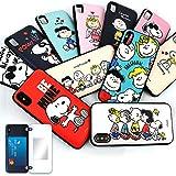 スヌーピー iPhoneケース カード収納 スタンド機能 ミラー付き ピーナッツ アイフォンケース 耐衝撃 薄型 iPhone アイフォン iPhoneXS iPhone8 iPhone7 Cas-1700 (iPhone8 / 7 用, 1:HAHAHAHA)