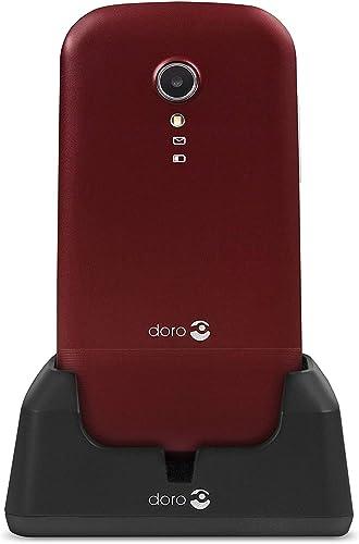 Doro 2404 Téléphone Portable 2G Dual SIM à Clapet Débloqué pour Seniors avec Grandes Touches, Touche d'Assistance et ...