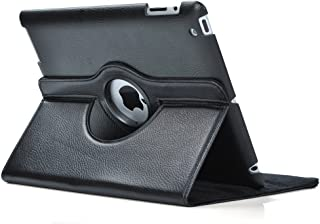 SuperLite 360 Degrees Rotating Stand Leather Case for Ipad 2/3/4, Black