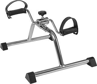 DMI Lightweight Mini Pedal Exerciser Leg and Arm Peddler, Adjustable Tension, Silver
