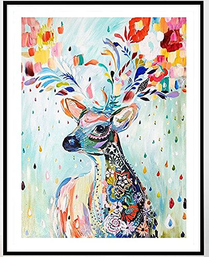 Colorful Deer Counted Cross Stitch, Egyptian Cotton Thread, 14ct 42x49cm 150x200 Stith Counted Cross Stitch Kits
