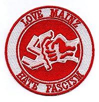 Mainz 05 Aufnäher Motiv Love Mainz hate Facism 8 x 8 cm