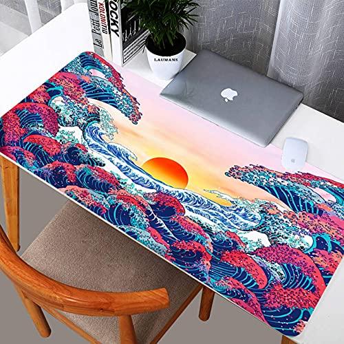 N\C Htheiyo Ocean - Alfombrilla de ratón para videojuegos japoneses Big Wave Kanagawa