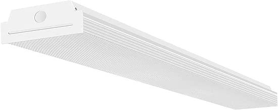 FaithSail 4FT LED Wraparound 40W 4 Foot LED Shop Lights for Garage, 4400lm 4000K Neutral White, Wrap Light, 48 Inch LED Light Fixtures Flush Mount Office Ceiling Lighting, Fluorescent Tube Replacement