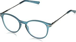 Unisex-Adult Foster Grant McKay Teal Multifocus Glasses 5010370-175.COM Round Reading Glasses, Rubberized Dark Teal with Gunmetal Temples, 1.75