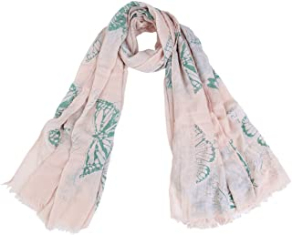 Elegant Vintage Butterfly Frayed End Scarf Wrap - Diff Colors Avail