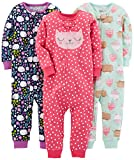 Simple Joys by Carter's Baby Mädchen 3-pack Snug Fit Footless Cotton Pajamas infant-and-toddler-pajama, Sweets/Floral/Kitty, 24 Monat (81 CM)