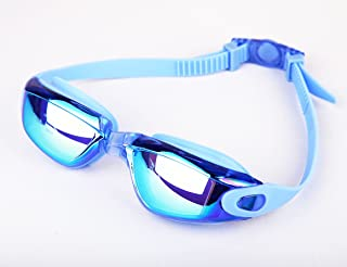 HUGE SPORTS Anti Fog UV Protection Swim Goggles Elastic Nose Piece and Case