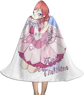 Maki Nishikino Love Live School Idol Project Music Unisex Kids Hooded Cloak Cape Halloween Xmas Party Decoration Role Cosplay Costumes Black