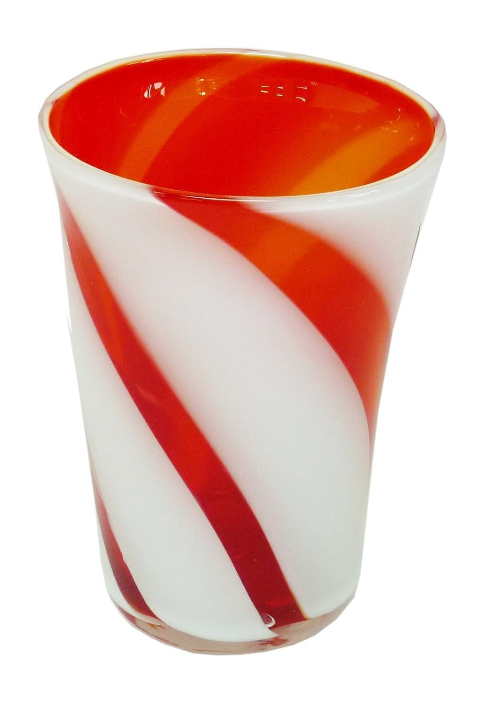 マサッチョリーオーバーランアールジーシー(RGC) ロックグラス オレンジ サイズ:径80×高120mm タンブラー