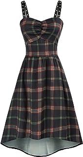 Women Gothic Steampunk Dress Sleeveless High Low Dress