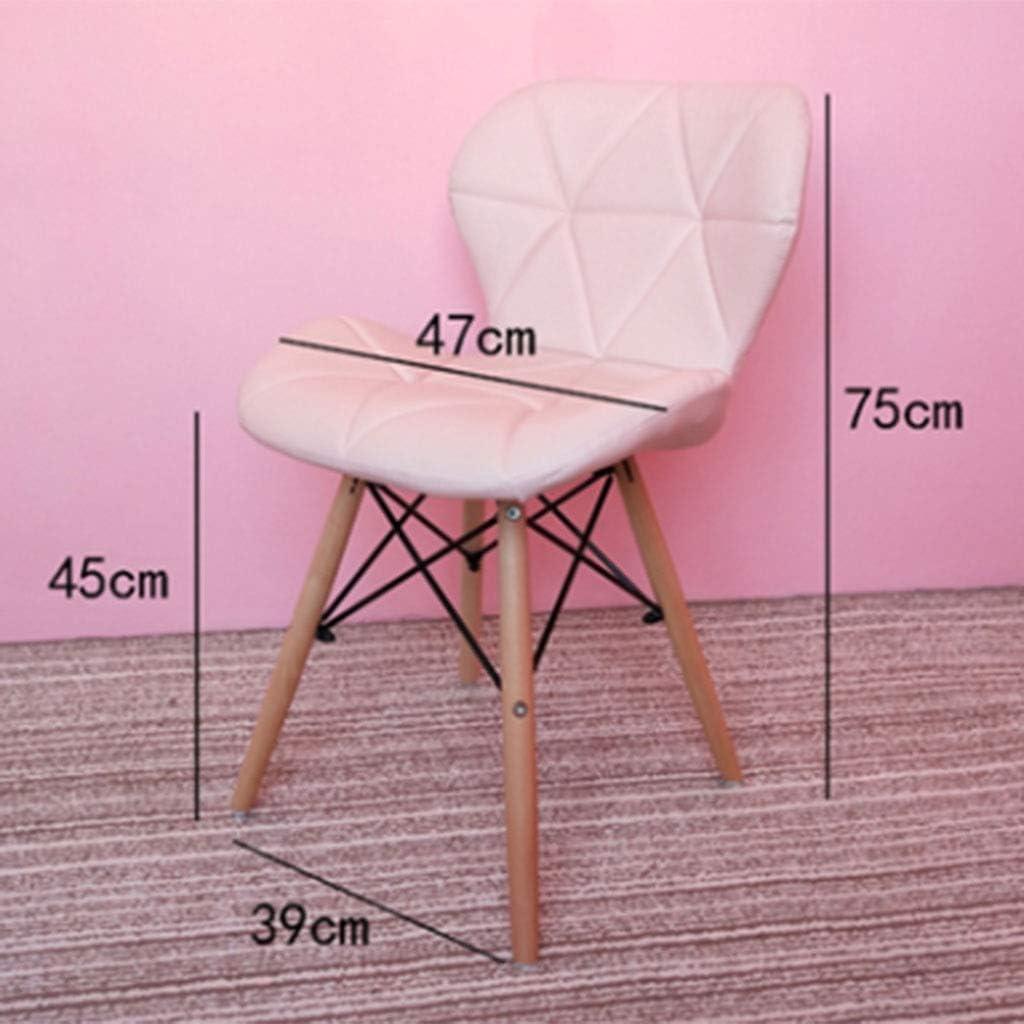 HEJINXL Chaises Salle Manger Pu Matériel Bois Massif Leg Simple Ordinateur Moderne Accueil Chaise Contente-toi Te Reposer Chaise Bureau(Porter Plus 120 Kg) (Color : F) F