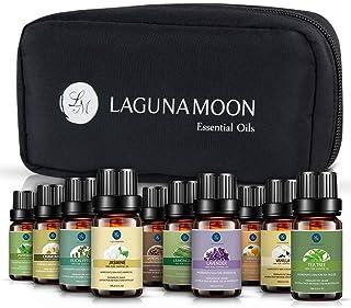 comprar comparacion Lagunamoon Aceites Esenciales, Top 10 Set de Viaje de Aceites de Aromaterapia de Lavanda, Eucalipto, Hierba de Limón, Ment...