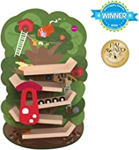 ORIBEL VertiPlay (Wall Toy) Tree Top Adventure, Wooden Toy and Nursery Room Decor | Easy to Install, Just Stick & Play