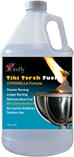 Firefly Citronella Tiki Torch Fuel - Odorless Oil - Significantly Longer Burn - Lower Smoke - 1 Gallon