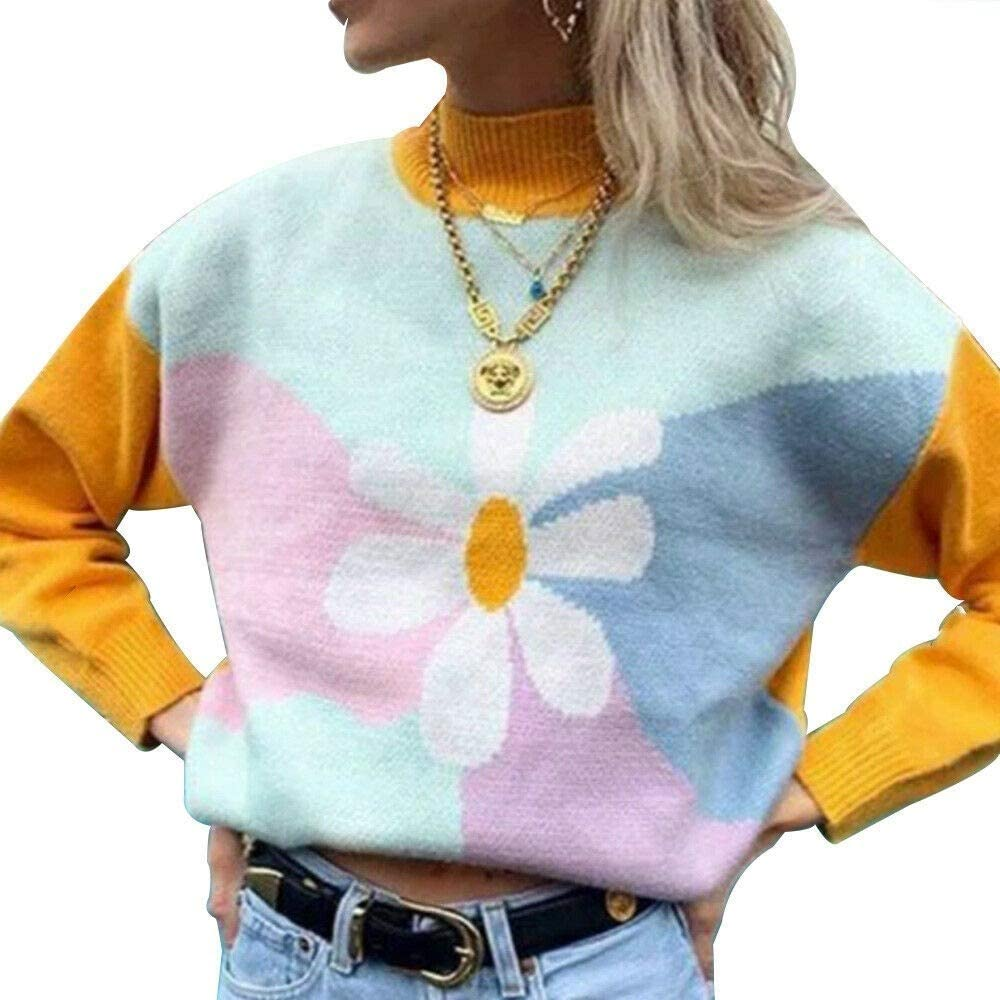 A surprise price is realized Womens Ladies Ranking TOP9 High Neck Knitted Pullo Sweater Sleeve Jumper Long