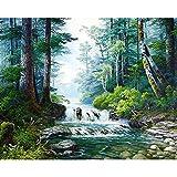 ATggqr Puzzle Adultos 1000 Piezas 50x75cm Paisaje de árboles de Cascada Rompecabezas Juegos Familiares Gran Juego de Rompecabezas para Adultos Adolescentes