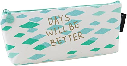 Eforstore New Cute Canvas Navy Style Pen Pencil Pouch Case Holder Cellphone Coin Cosmetic Makeup Bag Purse for Kids Teen Girls Boys School (#1)