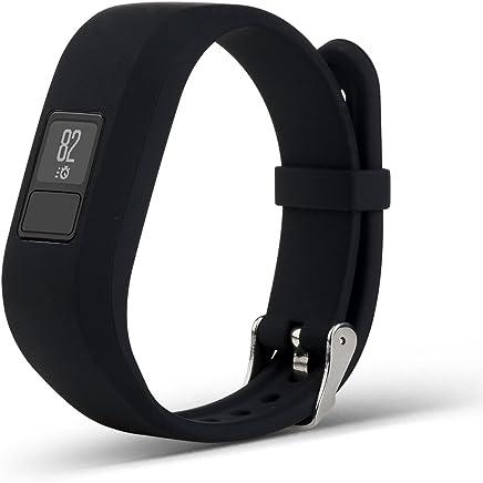 Garmin Vivofit 3 Accessory Bands Pinhen Replacement Sport Colourful Band With Plastic Clasps For Garmin Vivofit3 Activity Tracker Wireless Wristband Bracelet (Black)