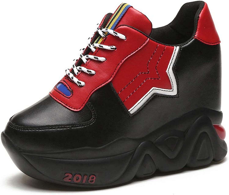 CYBLING Wedges Sneakers for Women, Fashion Platform High Heel Low-top Walking Sports shoes
