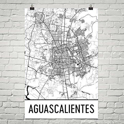 Aguascalientes Map Aguascalientes Art Aguascalientes Print Aguascalientes Mexico Poster Wall Art Mexican Gifts Map Of Mexico Poster 24 X36 Posters Prints Amazon Com