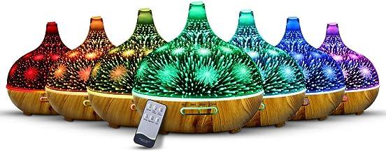 DEVANTI Aroma Aromatherapy Diffuser 3D LED Night Light Firework Air Humidifier Purifier 400ml Remote Control