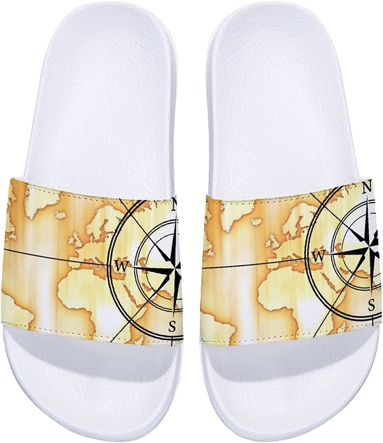 Compass with World Map Men's and Free Shipping Cheap Bargain Gift Women's Comfort Slide Sandals I Nippon regular agency