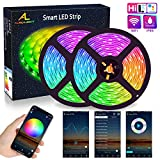 WIFI LED Streifen 10M(2x5M), ALED LIGHT RGB LED Strips 5050 SMD 300(2x150), 16 Millionen Farben,...