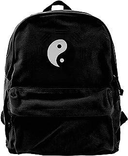NJIASGFUI Tai Chi Yin Yang Zen Mochila de lona para taoísmo, gimnasio, senderismo, portátil, bolsa de hombro para hombres ...