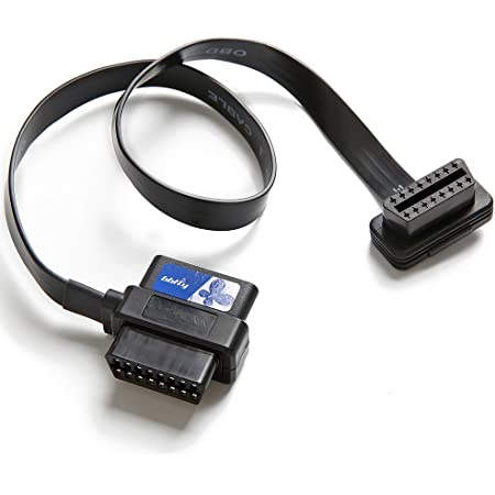 bbfly-A9 OBD II OBD2 16 Pin Splitter Extension 1x Male and 2X Female Extension Cable Adapter (2FT/60CM)