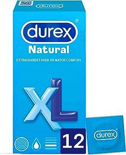 Durex Preservativos Originales Natural Plus Talla XL - 12 condones más grandes