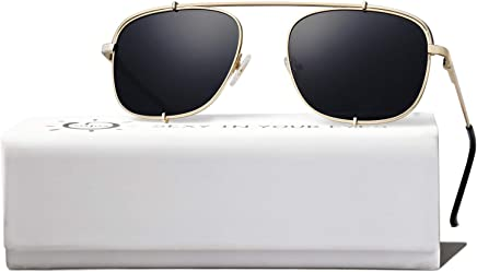 a5a847421d SOJOS Small Square Polarized Sunglasses with Spring Hinges Mirrored Lens  SUNRAYS