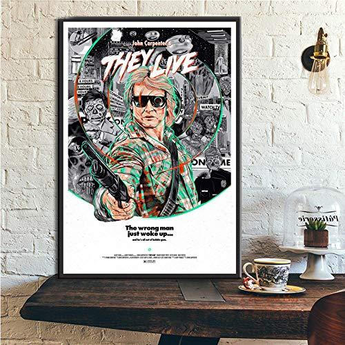 koushuiwa Plakate Und Leinwanddrucke Wandkunst Bild Film John Carpenter Leinwandmalerei Poster Dekorative Malerei Ungerahmt 50X70Cm A975