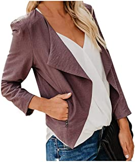 Nihewoo Women Office Work Blazer Jackets Open Front Open Front Cardigan Coat 3/4 Sleeve Lightweight Draped Cardigan