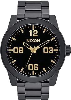 ساعة نيكسون للرجال A3461041 سوداء ستانلس ستيل كوارتز ياباني