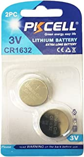 CR1632 DL1632 3V Coin Cell Lithium Batteries for Car Key Fob (2pc(1 Card))