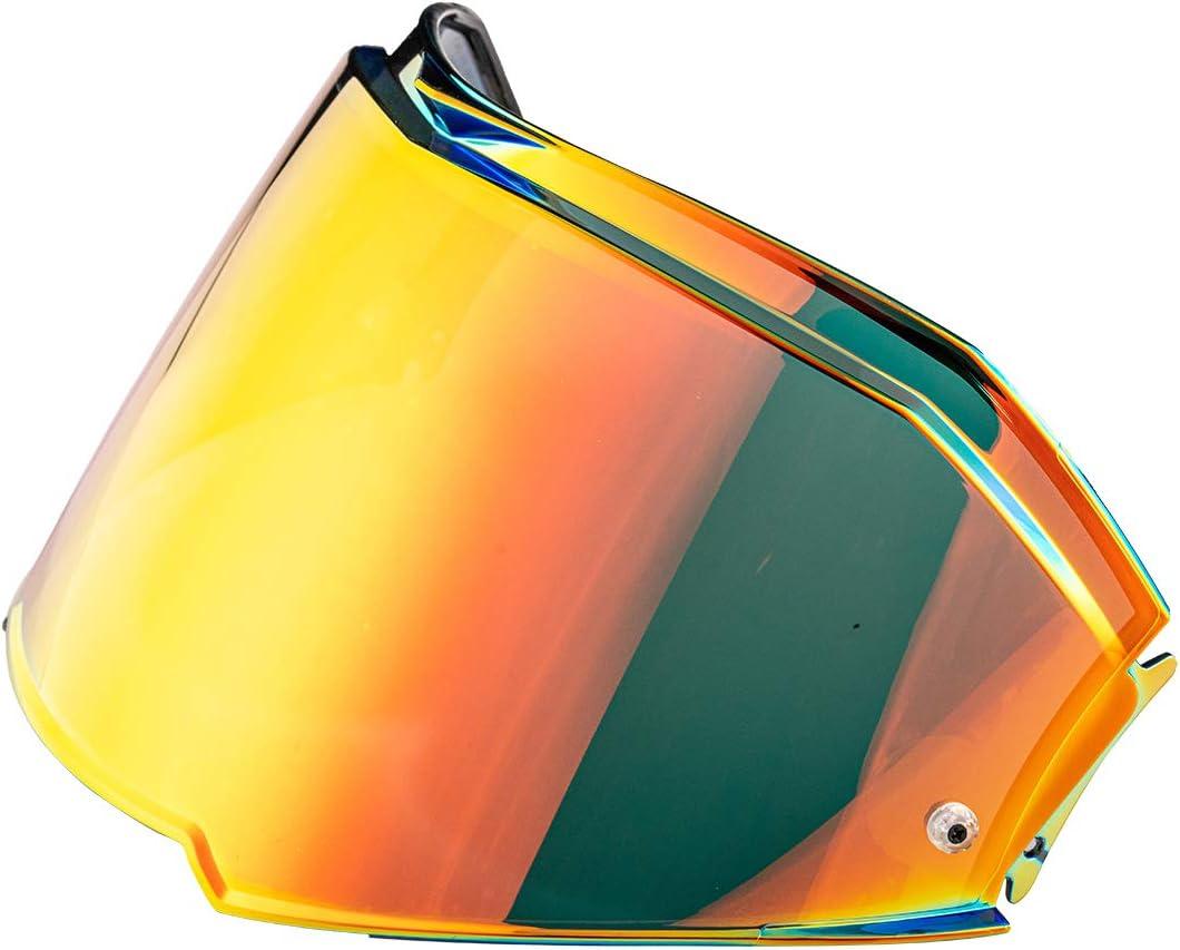 Chrome Silver LS2 Valiant II Helmet Visor Unisex-Adult Flip Up Helmets Replacement Helmet Shield