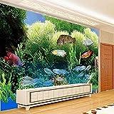 Fondos de pantalla personalizados Mundo submarino Tridimensional Acuario de peces tropicales Sala de estar Fondo de papel pintado pared dormitorio de estar sala de estar fondo No tejido-400cm×280cm