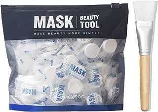 BLD Compressed Mask Disposable Paper Sheet Mask for DIY Facial Treatment Skin Care Wrapped Masks 100 pcs, Mask Brush Mask Applicator
