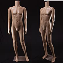 Realistic Standing Male Adult Mannequin (Headless) + Base (F-02A)