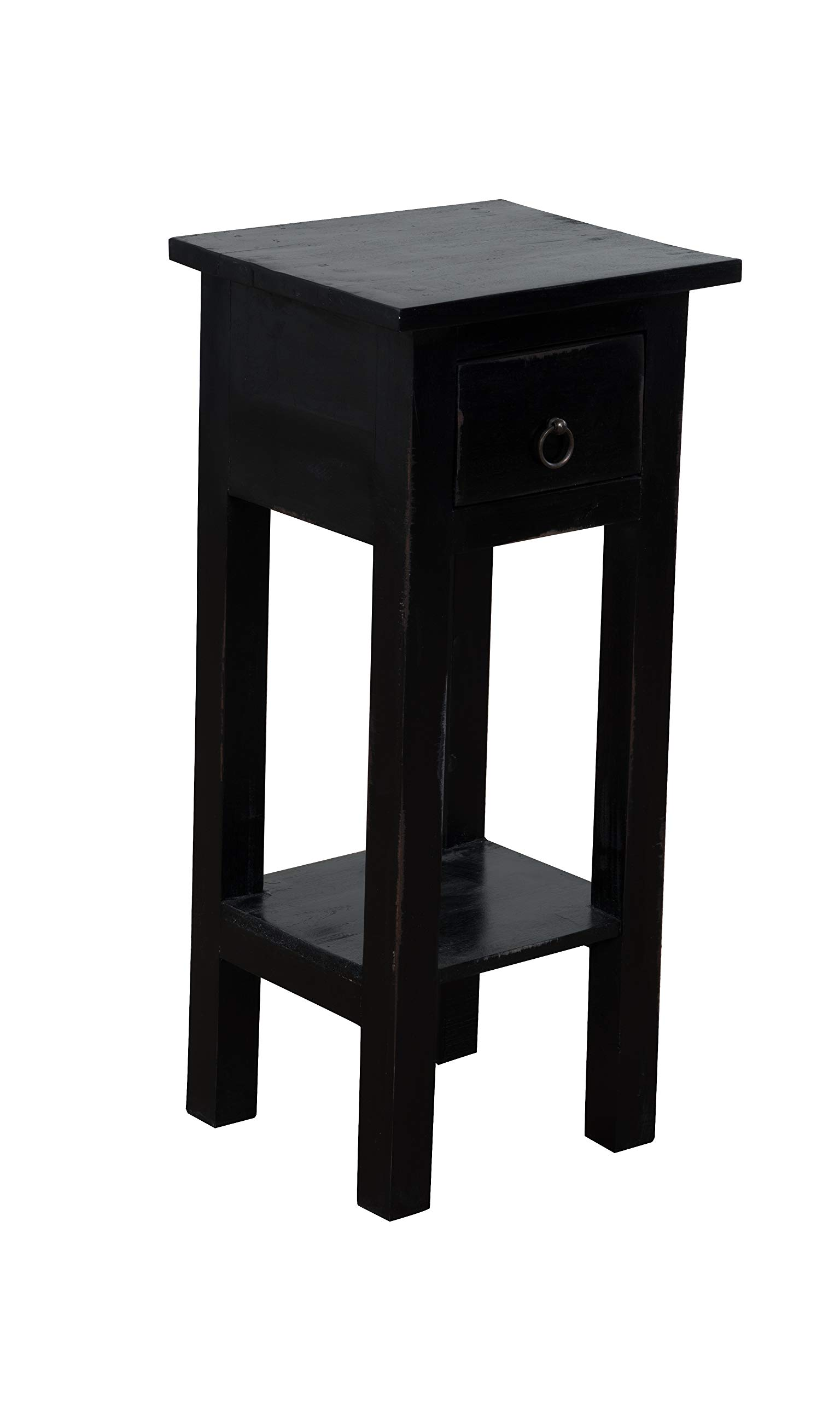 Espresso Sterling 6500525 Sutter Mahogany End Table with Drawer 27-Inch